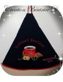Motif de broderie machine tasse à café noël