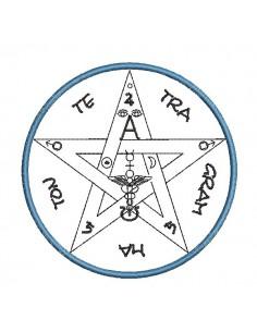 Motif de broderie machine pentagramme