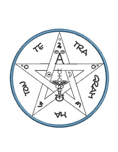 embroidery design esoteric pendulum mylar and applique