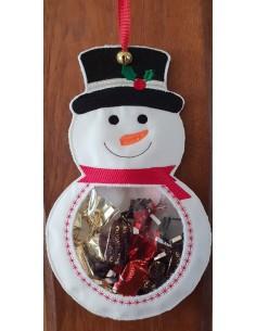 Motif de broderie machine bonhomme de neige  ITH pour bonbons