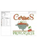 Instant download machine embroidery  Camargue rice