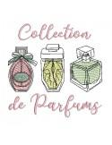 Motif de broderie machine flacons de parfums