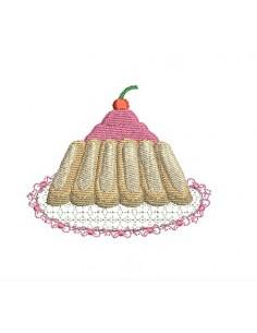 Motif de broderie charlotte aux fraises