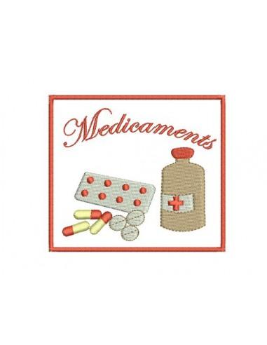 Motif de broderie médicaments