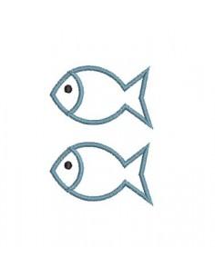 Motif de broderie poissons liens