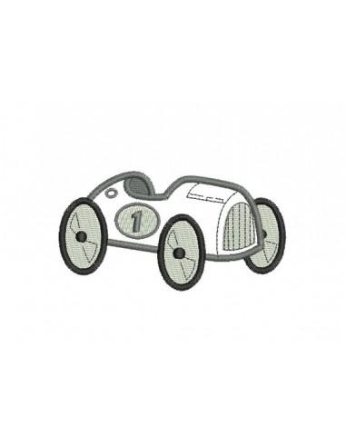 Motif de broderie appliqué roadster