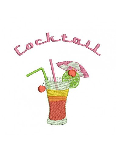 Motif de broderie cocktail