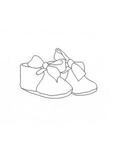Motif de broderie chaussons de bébé redwork