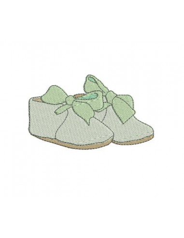 Motif de broderie chaussons