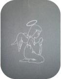 Motif de broderie ange qui prie