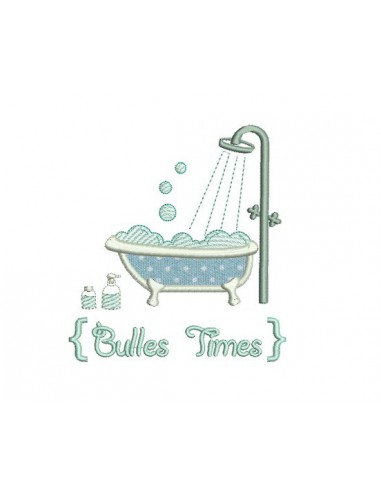 Motif de broderie bain