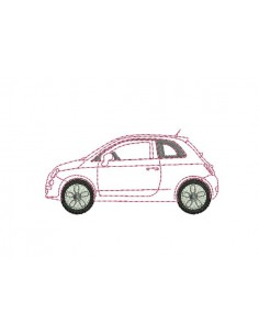Motif de broderie voiture