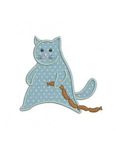 Motif de broderie chat