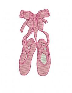 Chausson Danse motifs de broderie chausson de danse