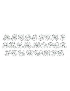 Motif de broderie machine alphabet monogramme Alice