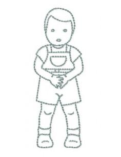 petit garçon10x10cm