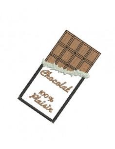 Motif de broderie machine tablette de chocolat alice broderie - Dessin tablette chocolat ...
