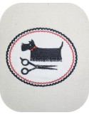 Motif de broderie machine toilettage chien