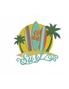 Motif de broderie machine surf