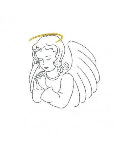 Motif de broderie machine ange qui prie