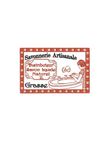 Motif de broderie machine savonnerie artisanale