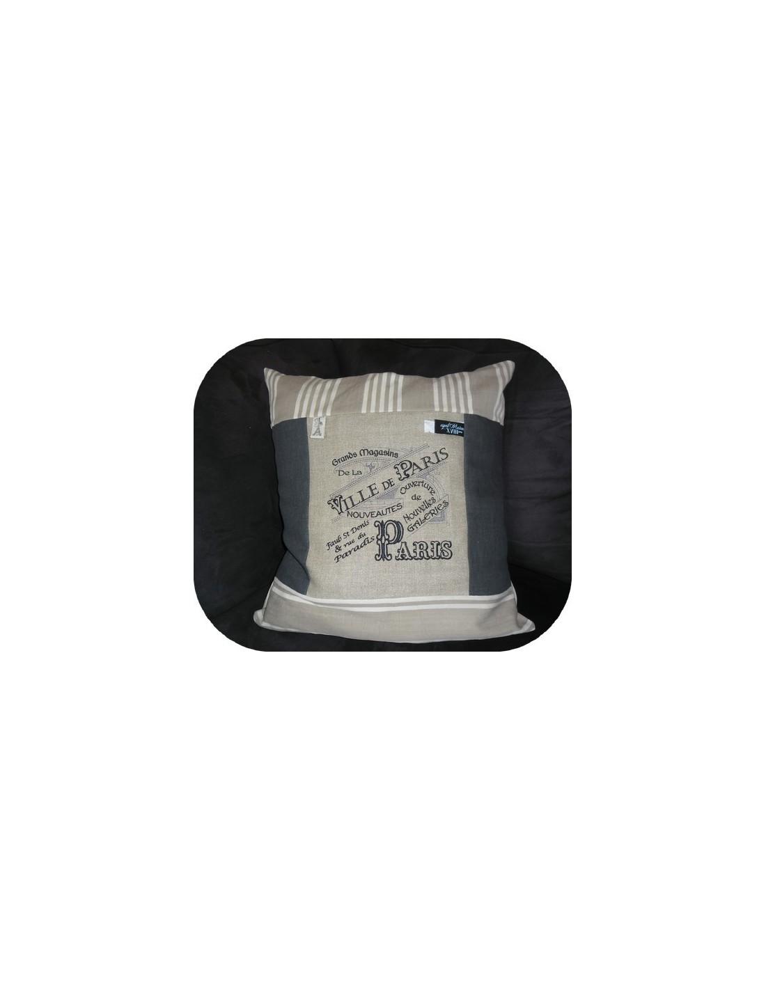 motif de broderie machine plaque publicitaire grands magasins paris alice broderie. Black Bedroom Furniture Sets. Home Design Ideas