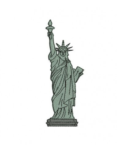 motif de broderie machine statue de la libert alice broderie. Black Bedroom Furniture Sets. Home Design Ideas
