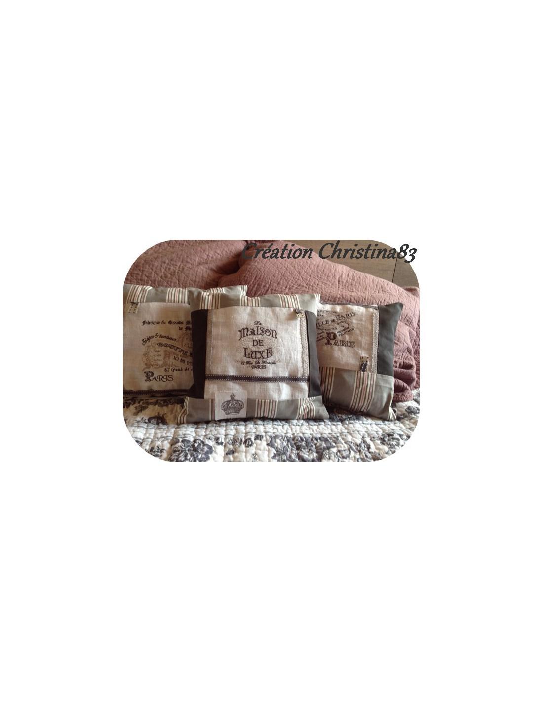 motif de broderie machine plaque publicitaire. Black Bedroom Furniture Sets. Home Design Ideas