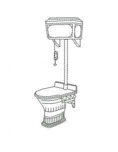 Motif de broderie machine toilette rétro