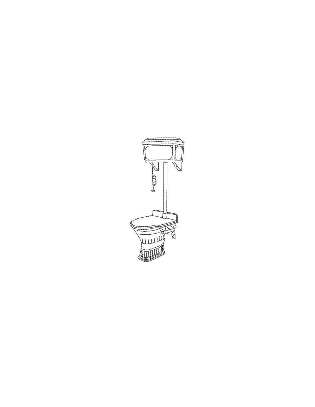 Motif de broderie machine toilette r tro alice broderie - Toilette retro ...