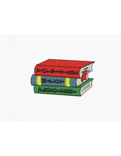 Motif de broderie machine livres