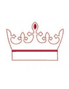Couronne chevalier redwork 10x10cm