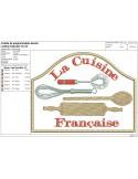 Motif de broderie machine cuisine française