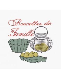 Motif de broderie machine Cuisine Recettes de Famille