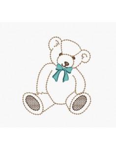 Motif de broderie machine petit ours