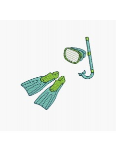 Motif de broderie machine kit de plongée