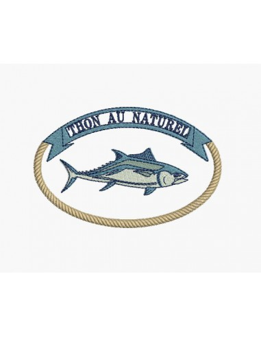 Instant Download Machine Embroidery Design Natural Tuna Alice Broderie