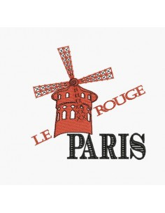 Motif de broderie machine paris Moulin Rouge