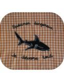 Motif de broderie machine requin