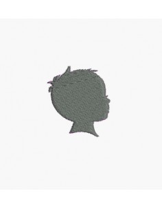 Motif de broderie machine camée petit garçon