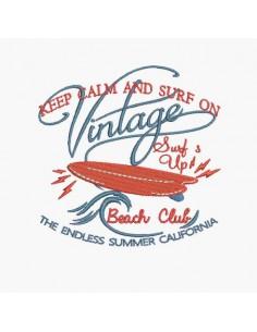 Motif de broderie machine vintage surf
