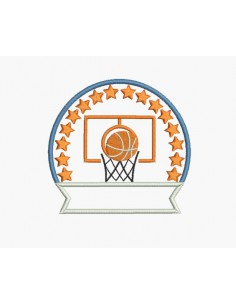 Motif de broderie machine basketball