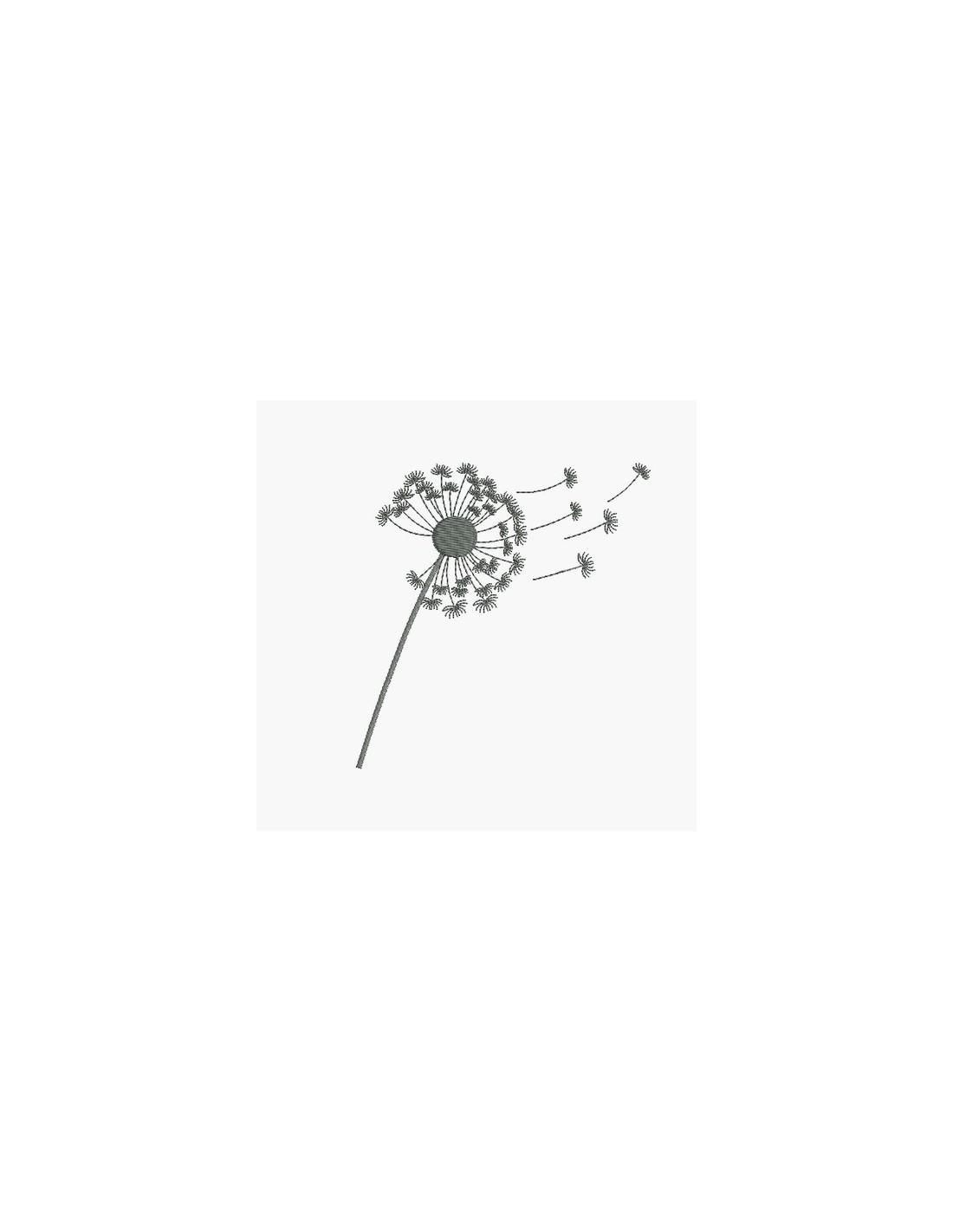 Motif de broderie fleur de pissenlit 2 - Alice Broderie