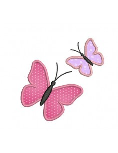 Motif de broderie machine appliqué papillons