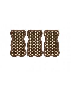 Motif de broderie machine nounours en chocolat
