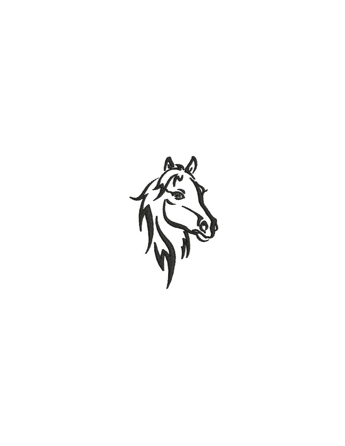Instant Download Machine Embroidery Design Profile Horse