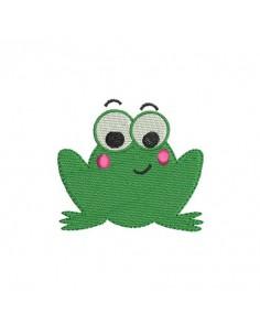 Motif de broderie machine grenouille