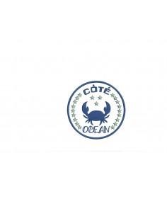 Motif de broderie  appliqué côté océan