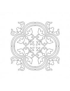 Motif de broderie machine carreau de ciment baroque aen redwork
