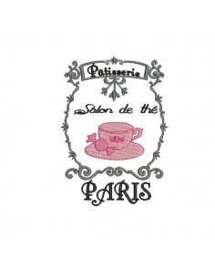 Motif de broderie machine salon de thé